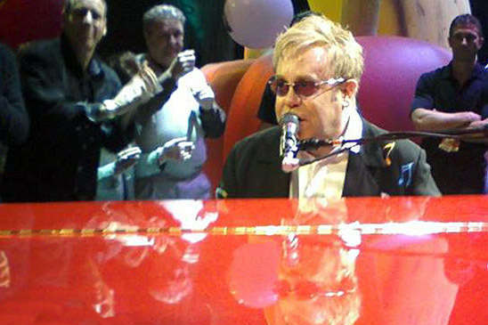 Image: Elton John at his Red Piano, All Rights Res